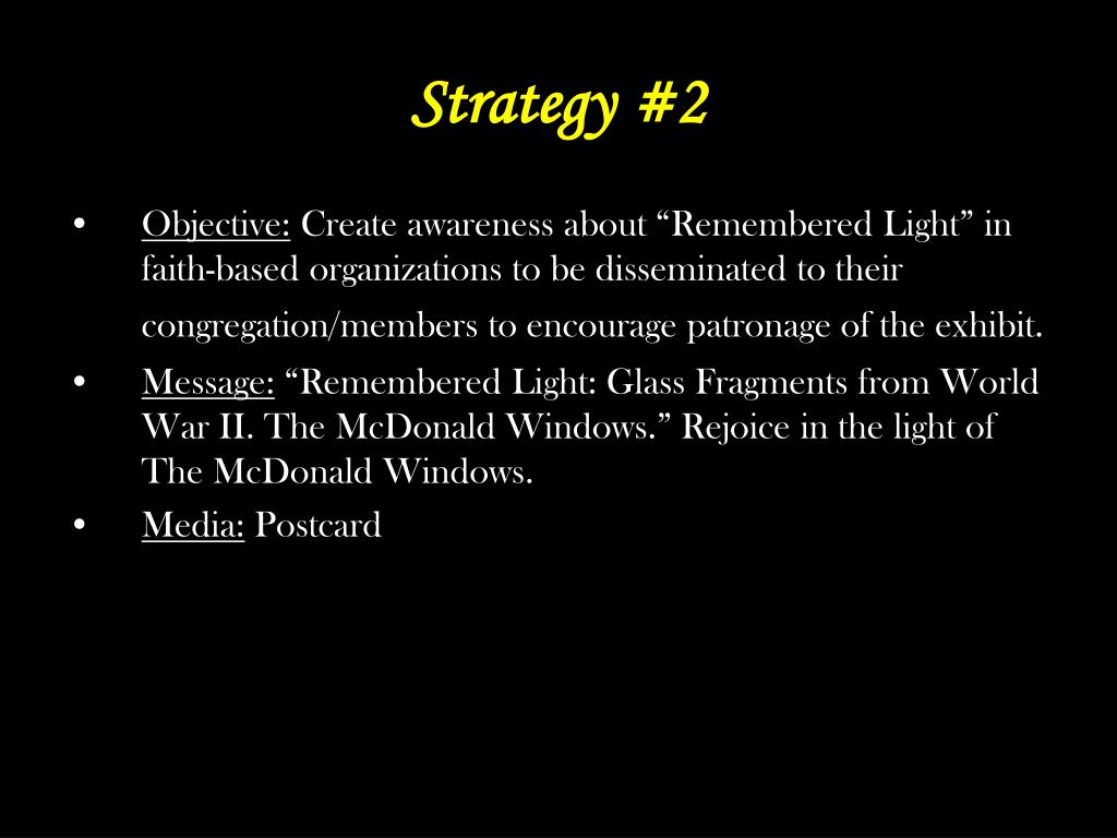 Strategy #2