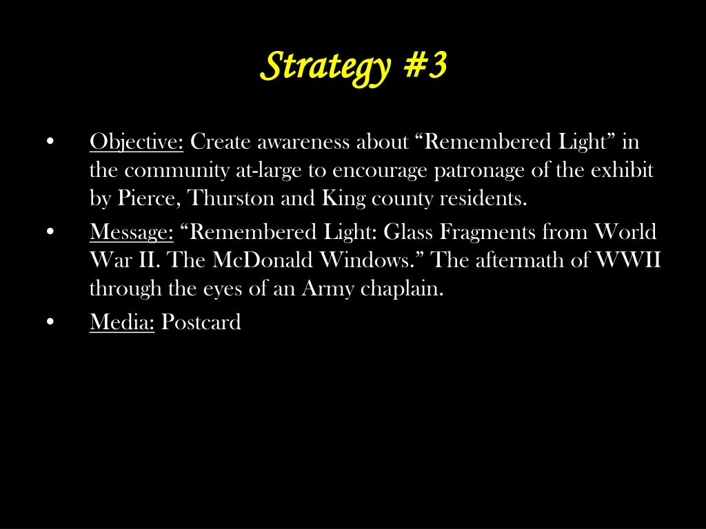 Strategy #3