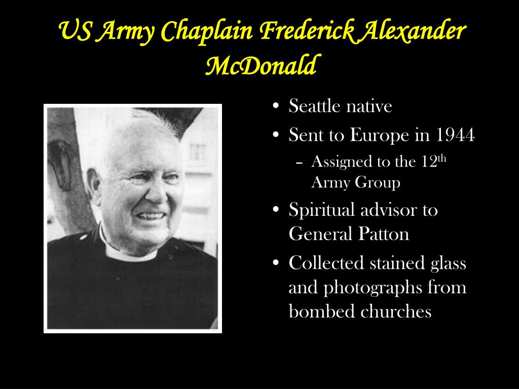US Army Chaplain Frederick Alexander McDonald