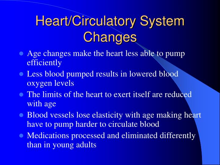 Heart/Circulatory System Changes