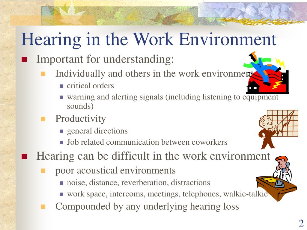 Hearing in the Work Environment