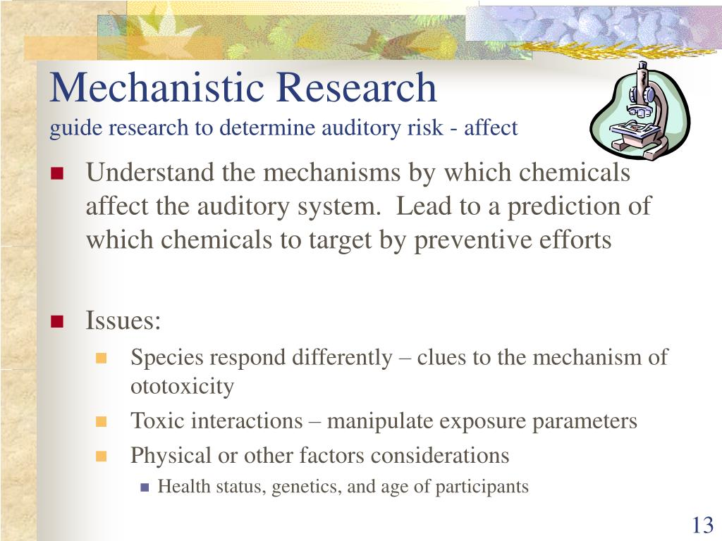 Mechanistic Research