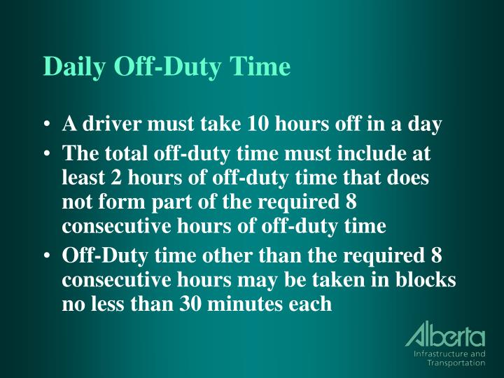 Daily Off-Duty Time