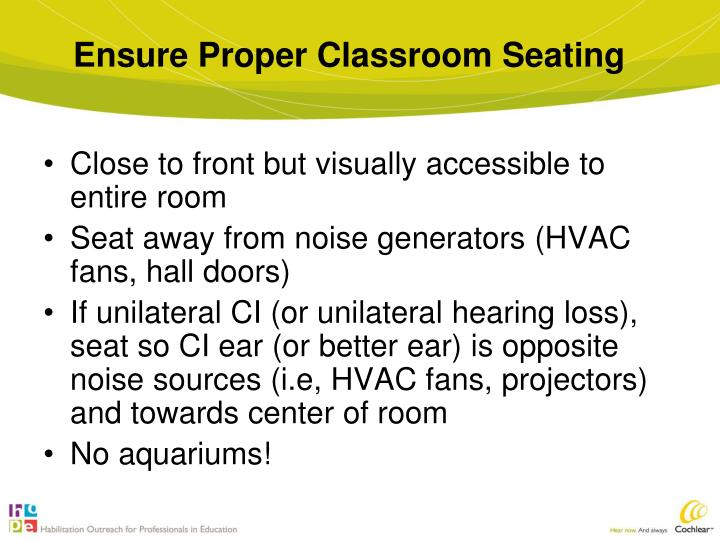 Ensure Proper Classroom Seating