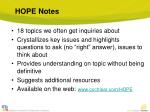 hope notes1