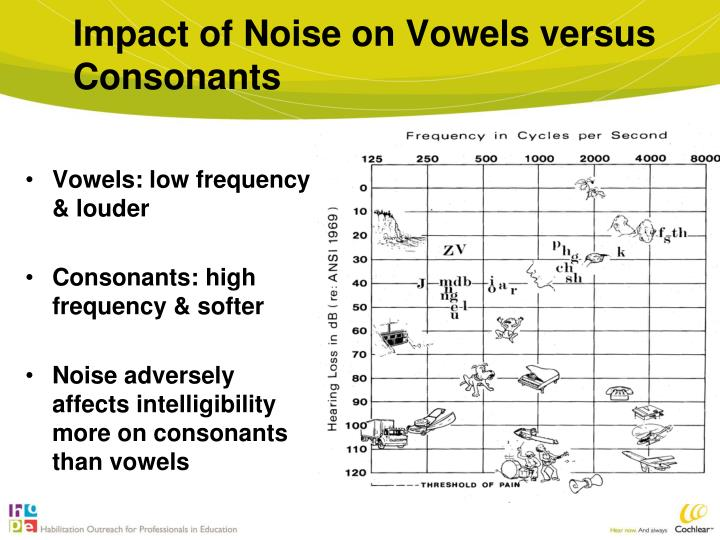 Impact of Noise on Vowels versus Consonants