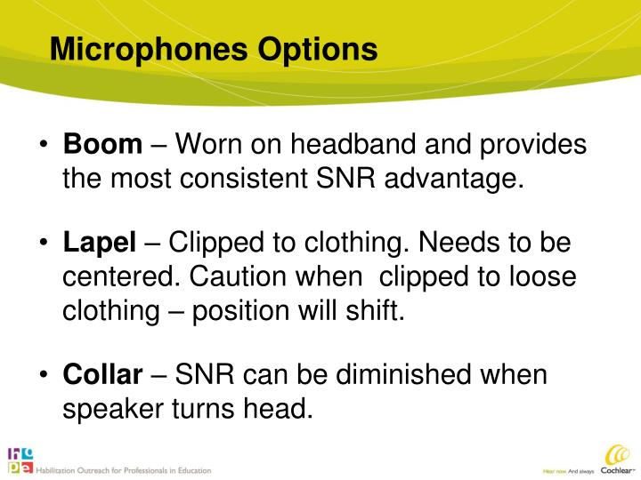 Microphones Options