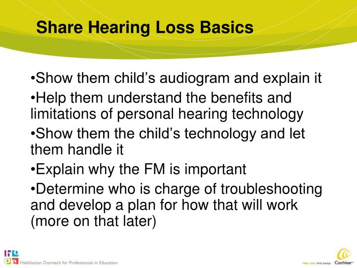 Share Hearing Loss Basics