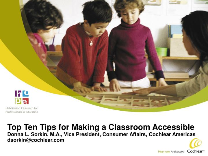 Top Ten Tips for Making a Classroom Accessible