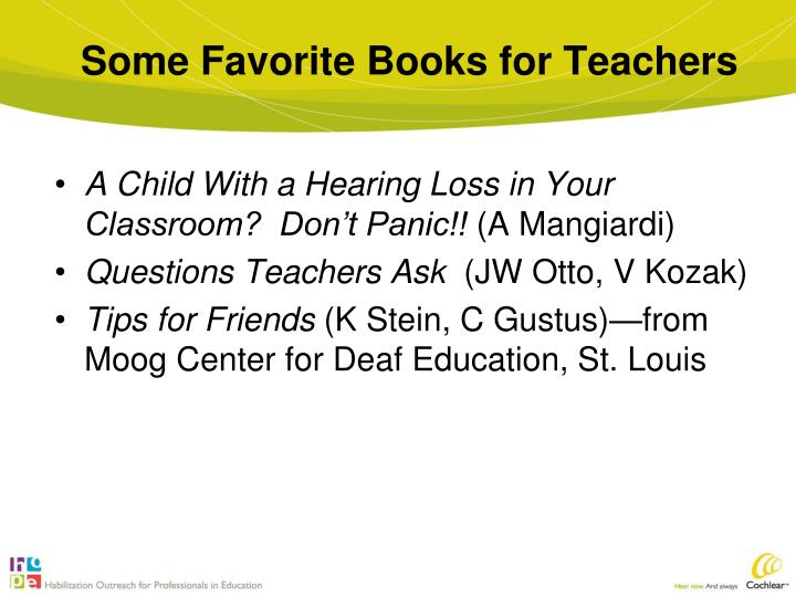 Some Favorite Books for Teachers