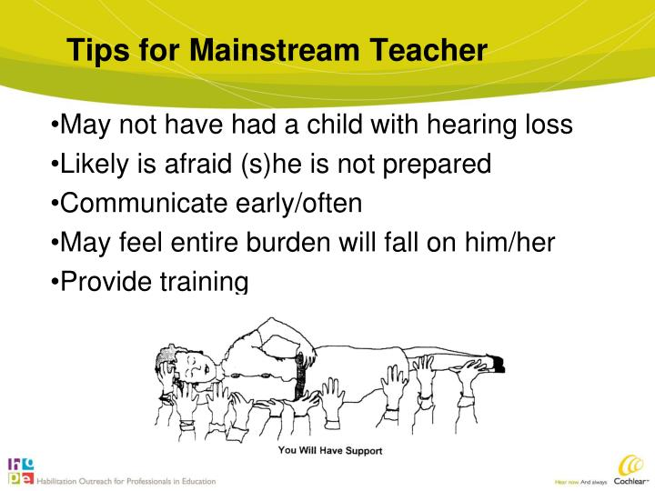 Tips for Mainstream Teacher