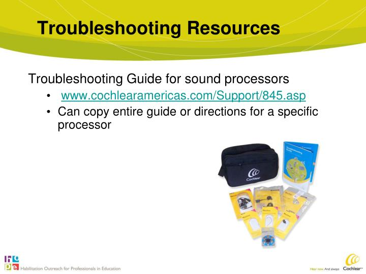 Troubleshooting Resources