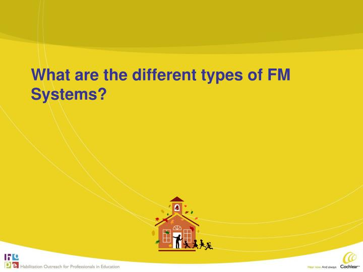 What are the different types of FM Systems?