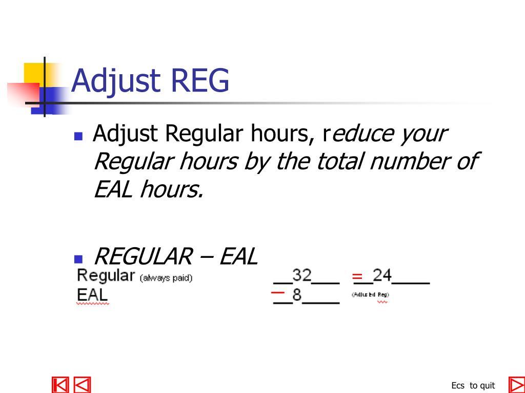 Adjust REG