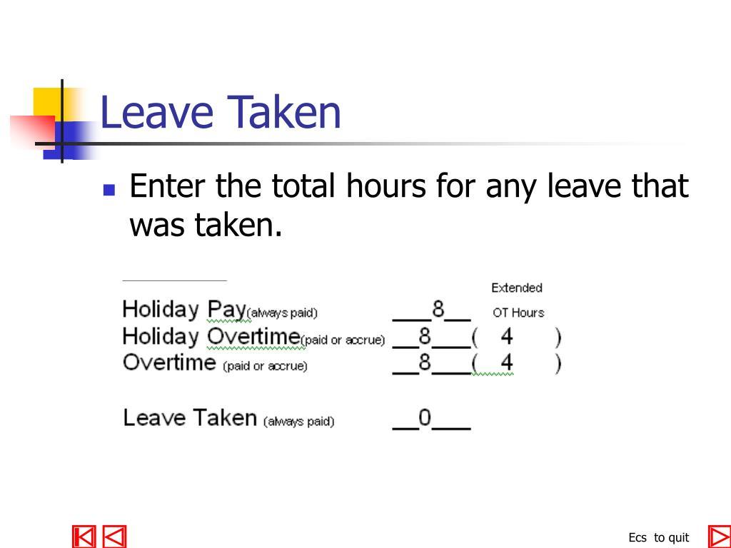 Leave Taken