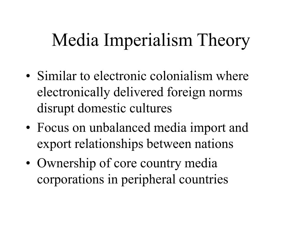 Media Imperialism Theory