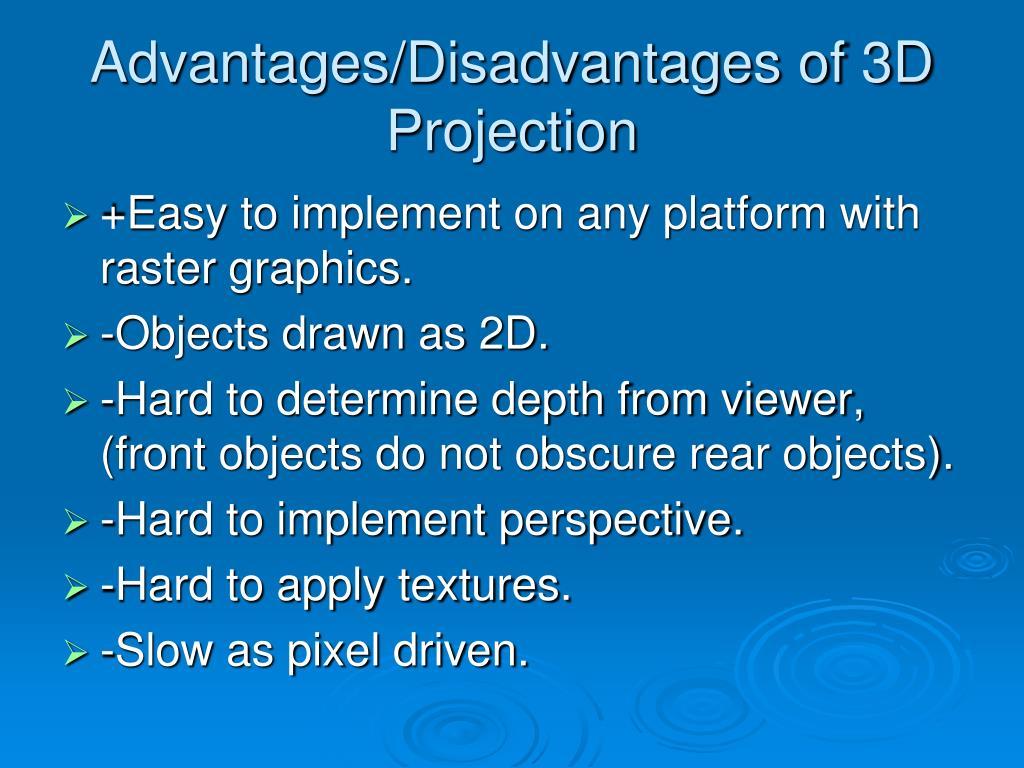 Advantages/Disadvantages of 3D Projection