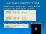 opengl drawing objects