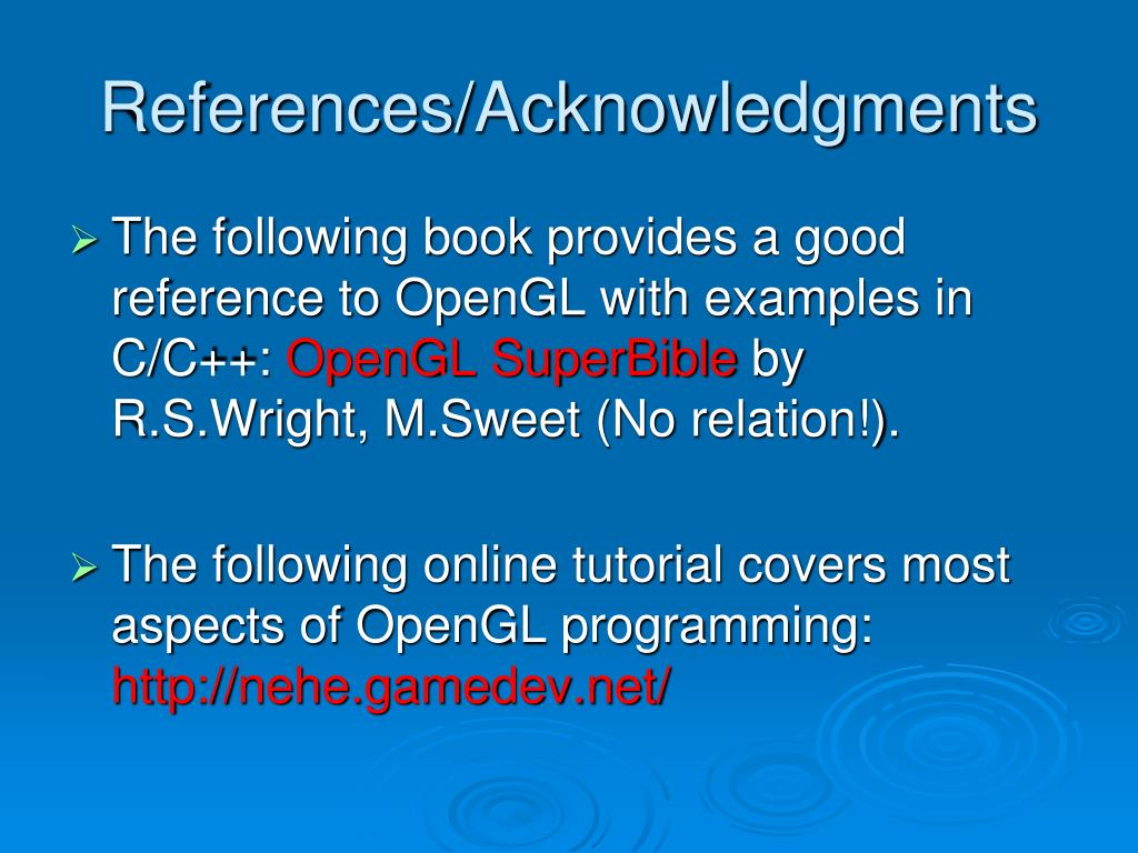 References/Acknowledgments