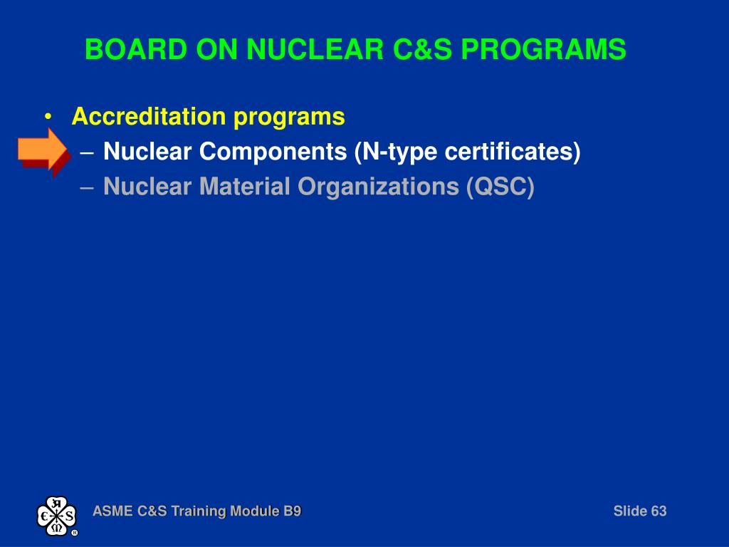BOARD ON NUCLEAR C&S PROGRAMS