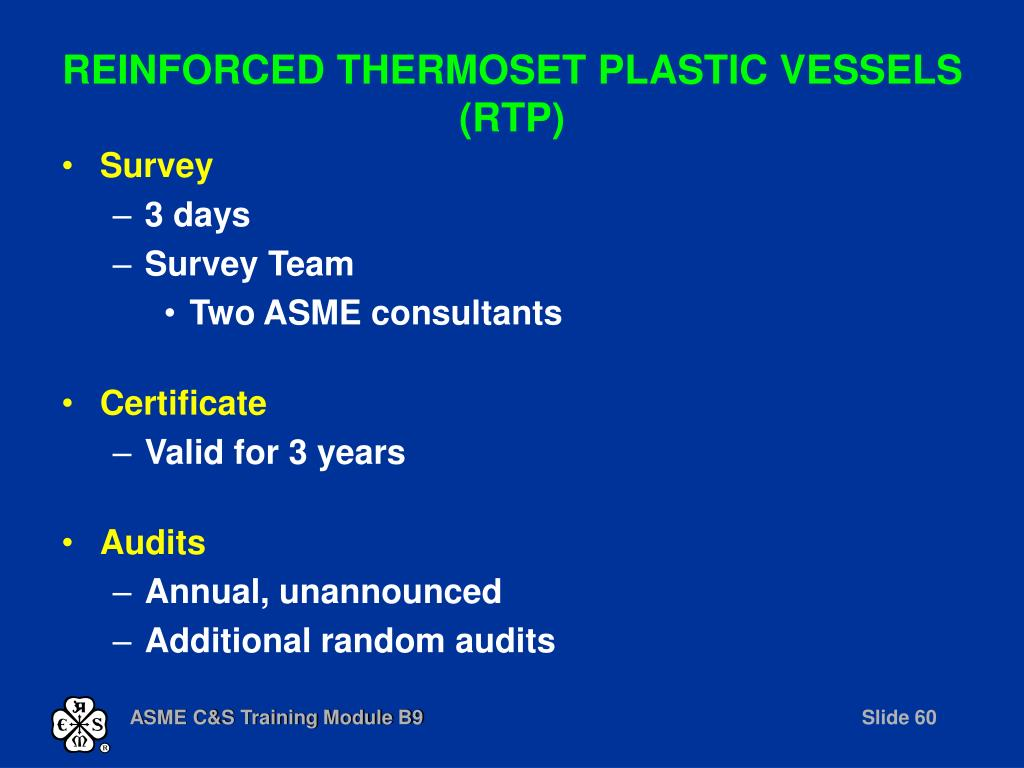 REINFORCED THERMOSET PLASTIC VESSELS (RTP)