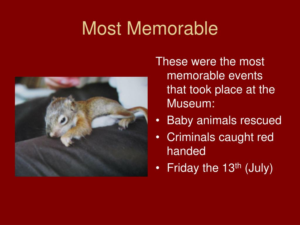 Most Memorable