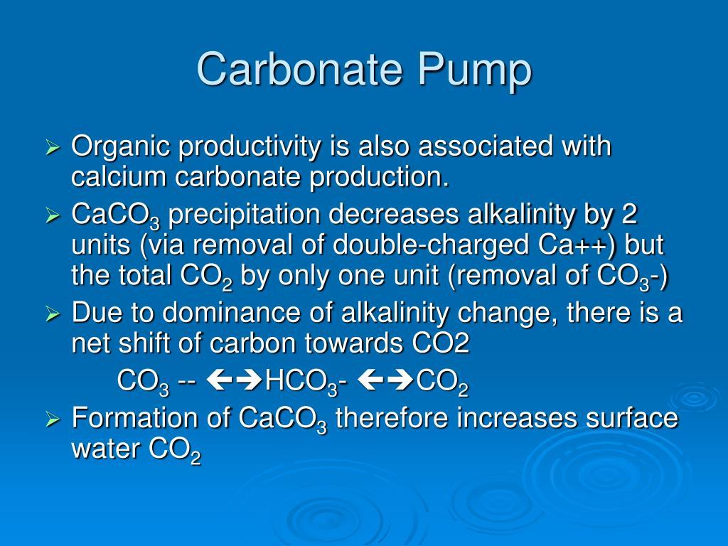Carbonate Pump