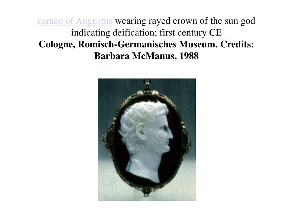 cameo of Augustus