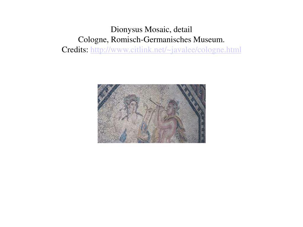 Dionysus Mosaic, detail