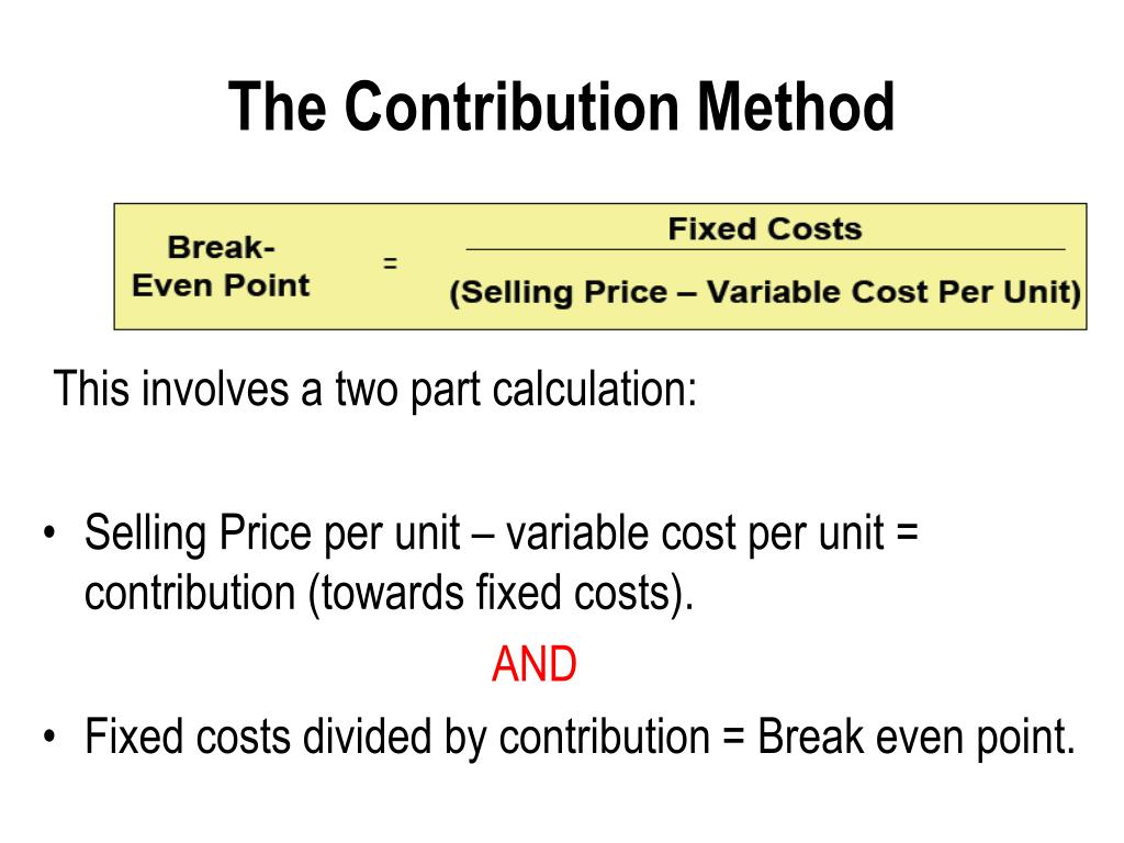 The Contribution Method