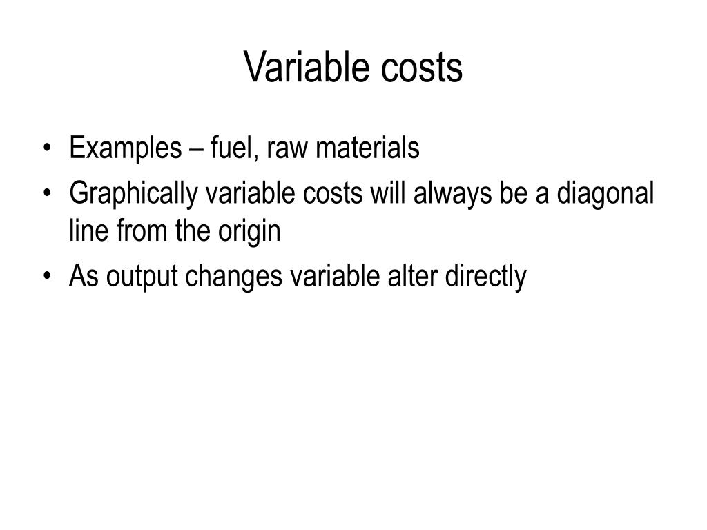 Variable costs
