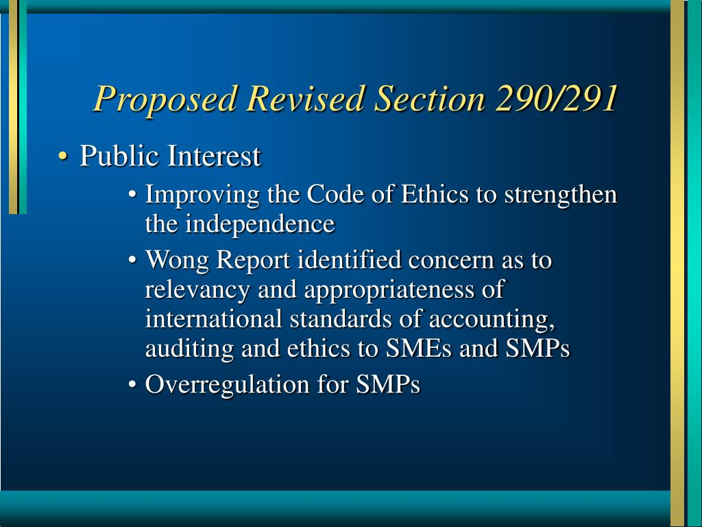 Proposed Revised Section 290/291