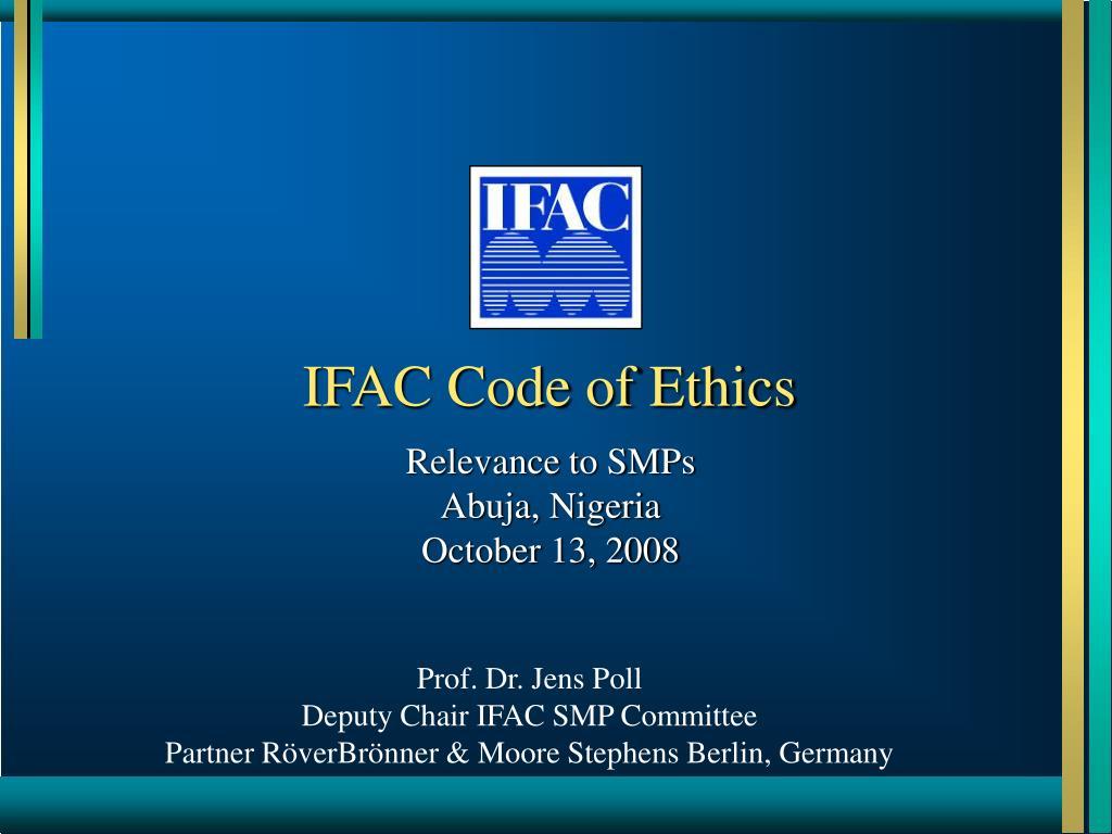 IFAC Code of Ethics
