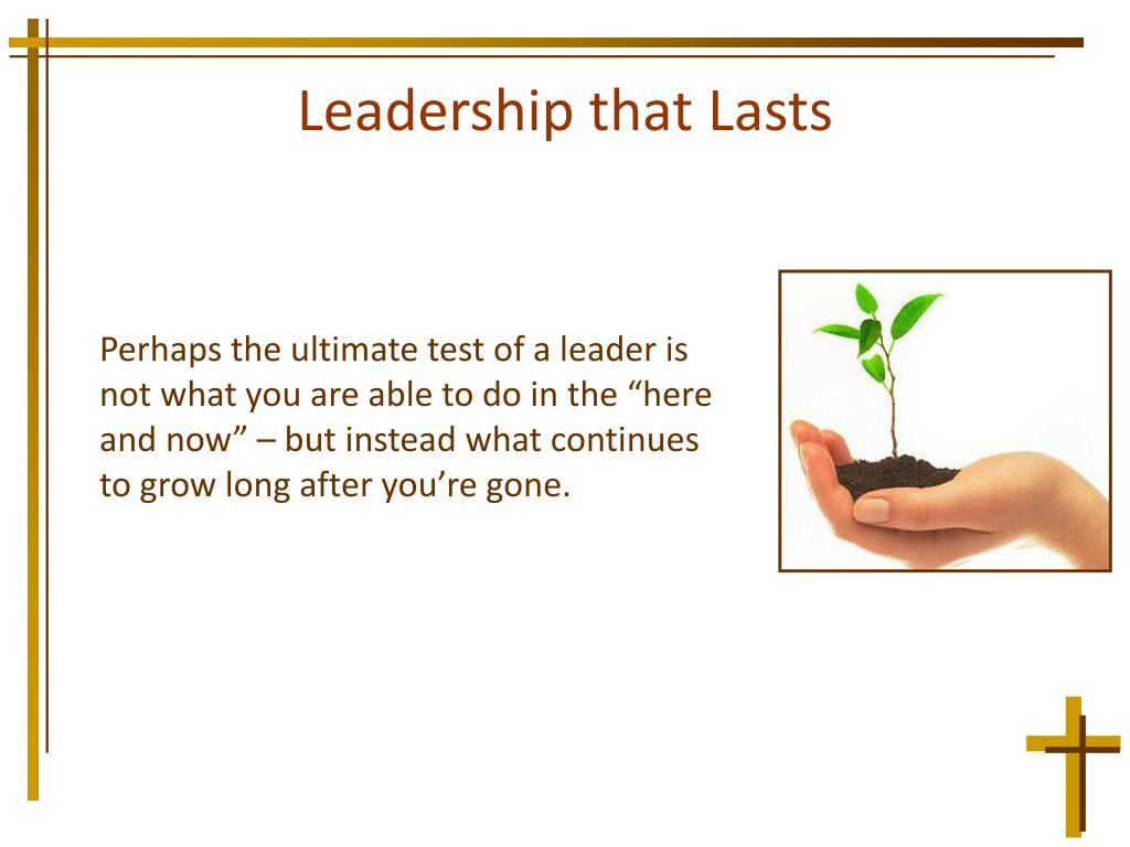 Leadership that Lasts