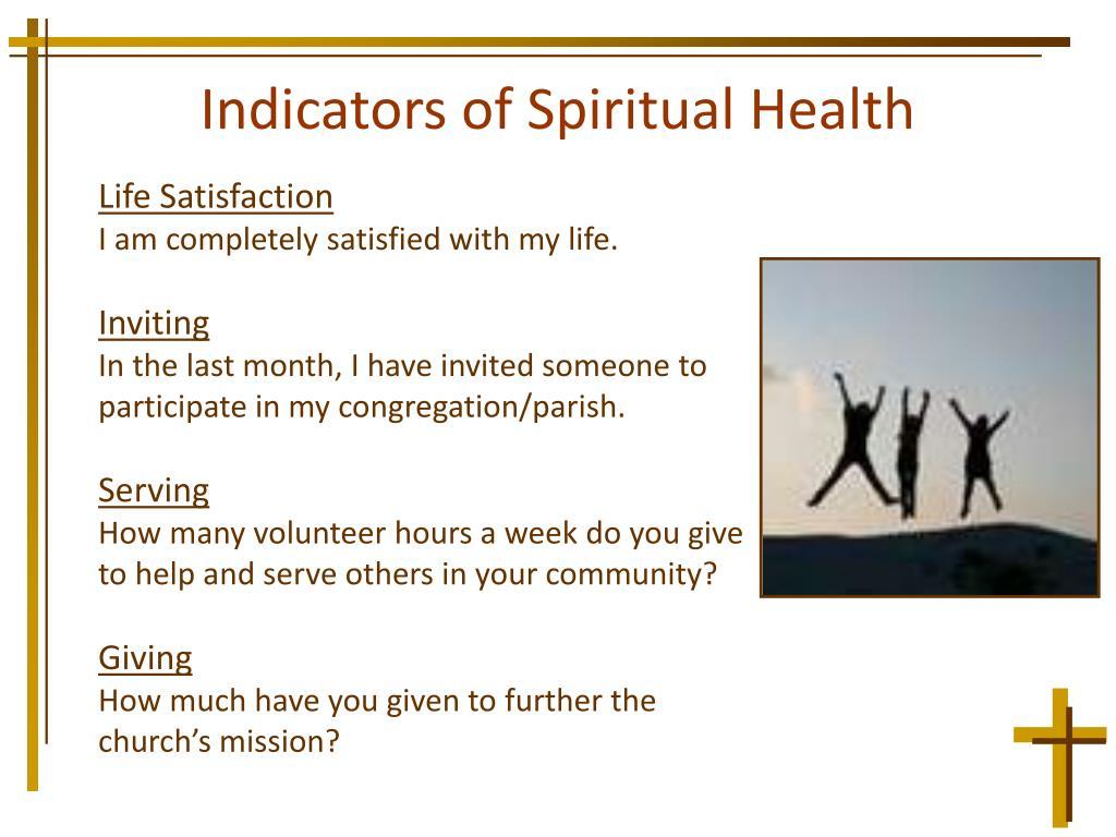 Indicators of Spiritual Health