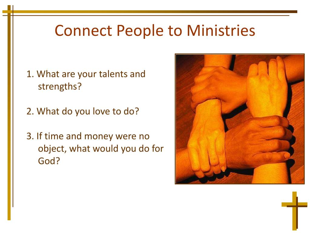 Connect People to Ministries