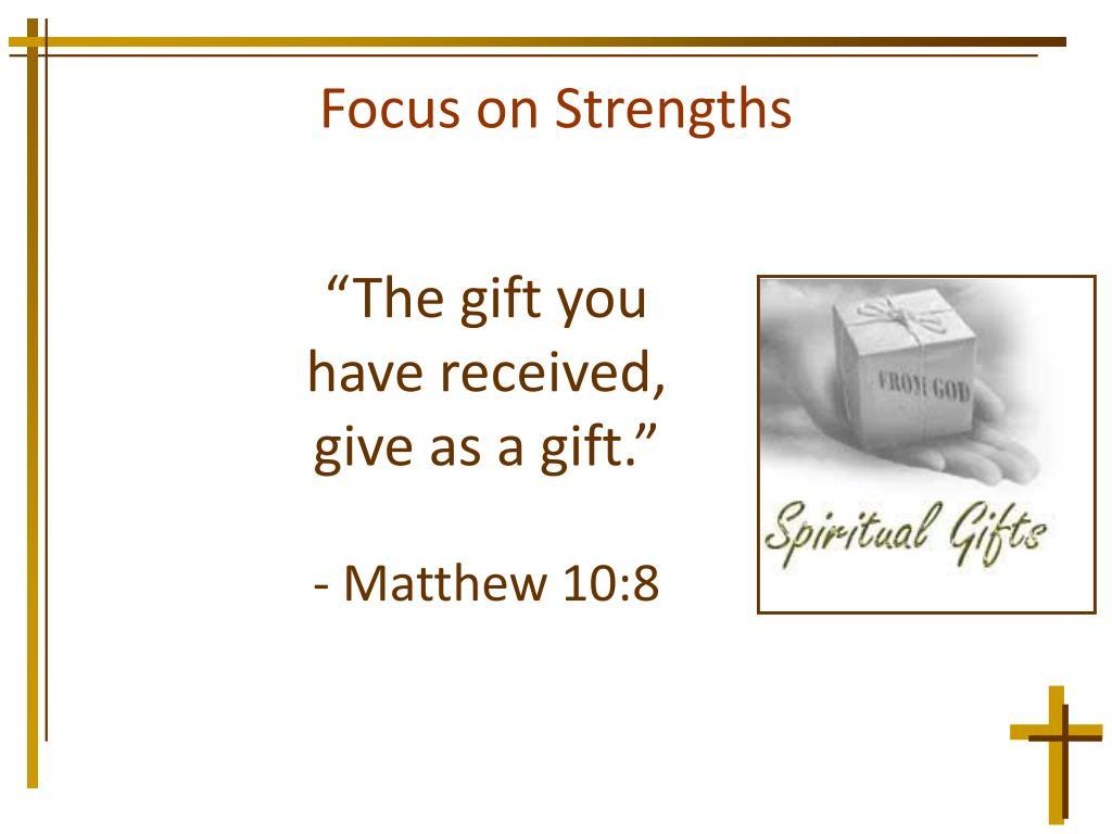 Focus on Strengths