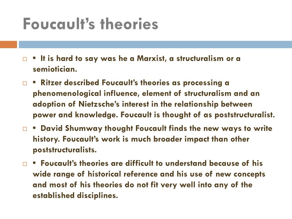 foucault s theory of discourse and power is the relation between discourse knowledge and power Michel foucault : power/knowledge and epistemological prescriptions some property of statements or beliefs that exist separately from relations of power within locating foucault's work on power and knowledge in regards to its possible.