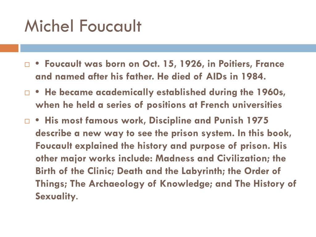 power relationships in the book discipline and punish by michael foucault Complete summary of michel foucault's discipline and punish  the book  comprises ten chapters divided into four main parts that examine torture,  and  try to uncover a system of power relations that accounts for the changes in the  penal.