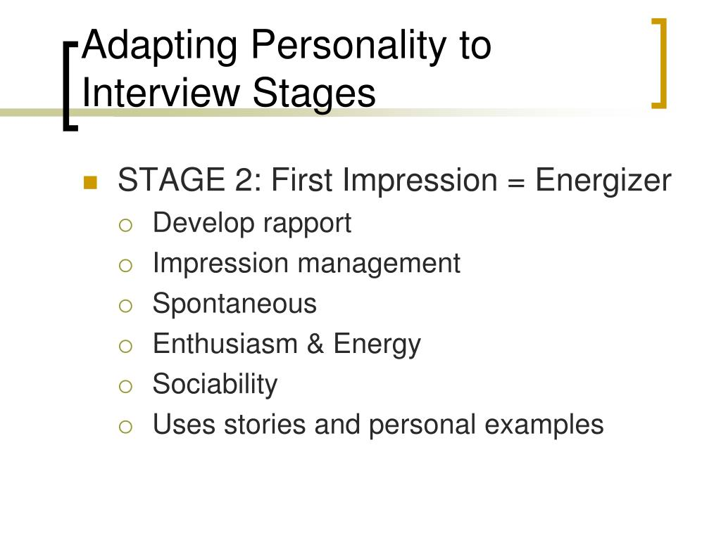 Adapting Personality to Interview Stages