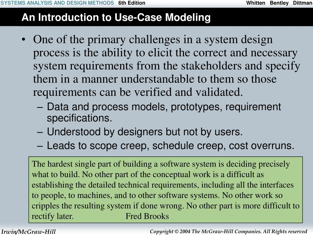 an introduction to use case modeling