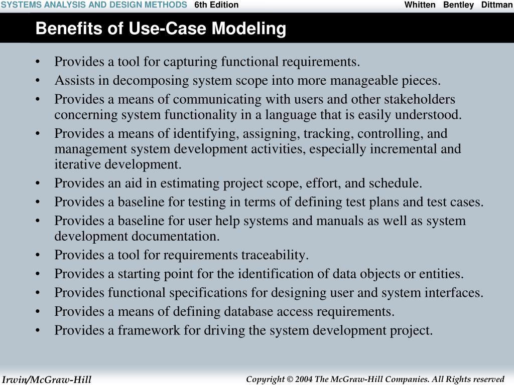 Benefits of Use-Case Modeling