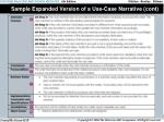 sample expanded version of a use case narrative cont27
