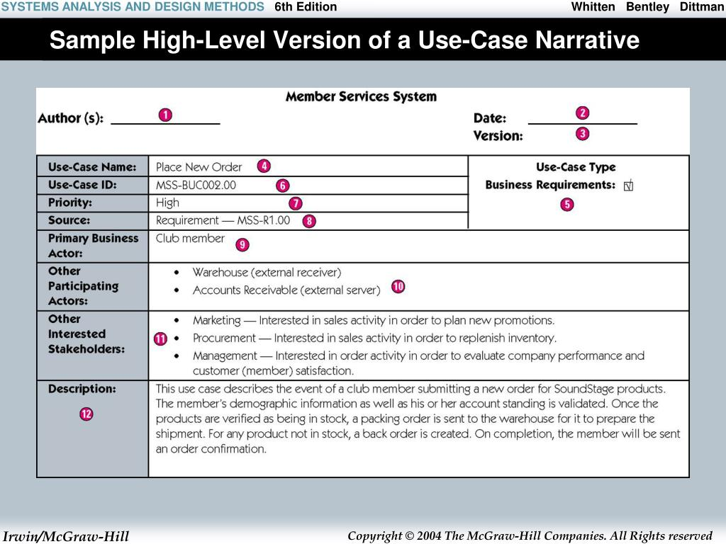 Sample High-Level Version of a Use-Case Narrative