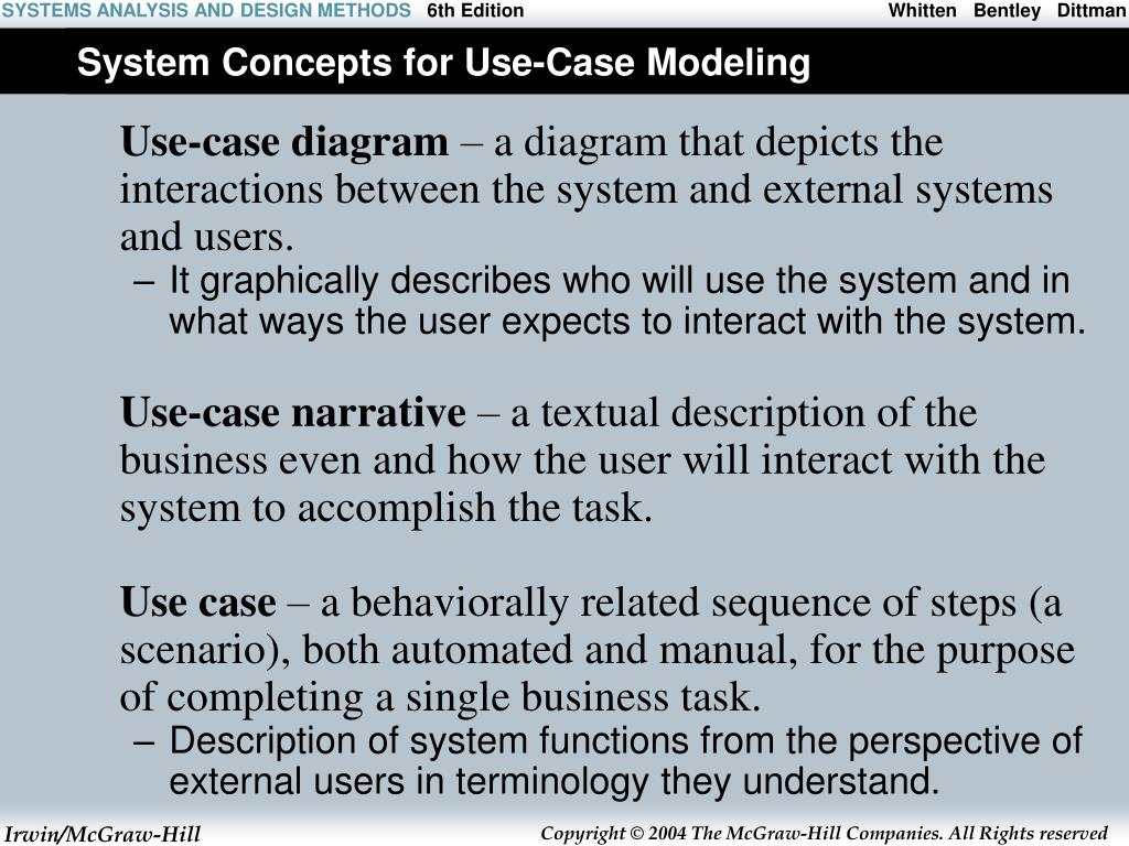 System Concepts for Use-Case Modeling