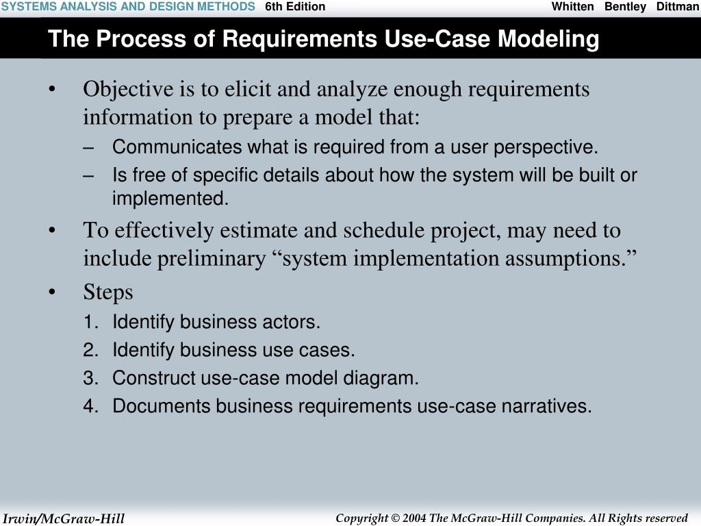 The Process of Requirements Use-Case Modeling