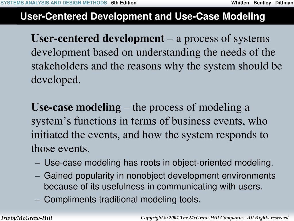 User-Centered Development and Use-Case Modeling