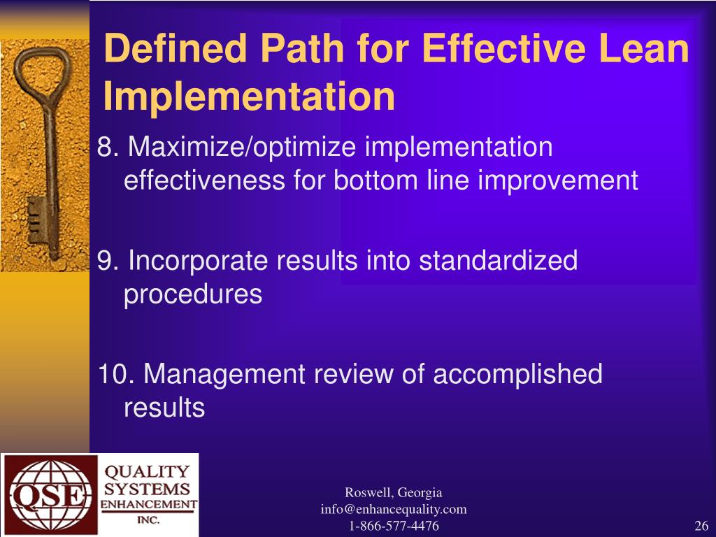 Defined Path for Effective Lean Implementation
