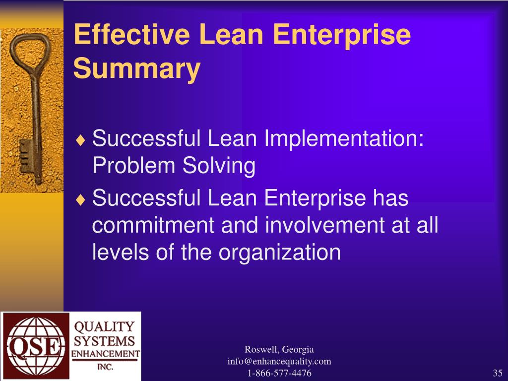 Effective Lean Enterprise Summary