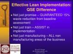 effective lean implementation qse difference